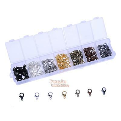 140pcs Jewelry Findings Lobster Clasp Hooks DIY Necklace Bracelet Chain Making