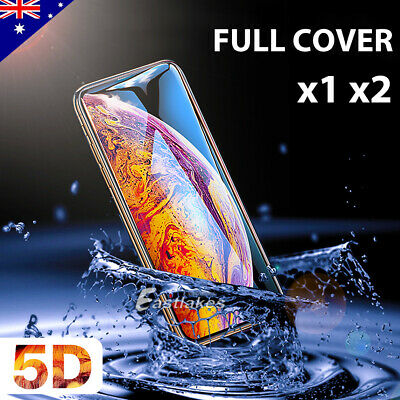 5D Apple iPhone 11 Pro XS Max XR 8 7 6 Plus Full Tempered Glass Screen Protector