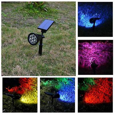 7 LED Solar Panel Light Spotlight Color Change Garden Yard Lamp Waterproof IP65