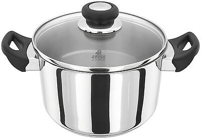 Judge Vista Stainless Steel Straight Sided Casserole Pan With Glass Lid