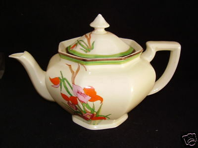 Athens Teapot In Clarice Cliff Disa Pattern