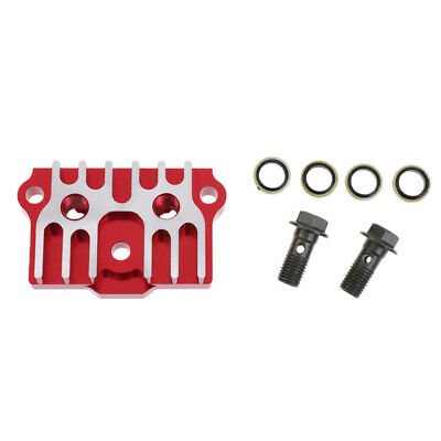 Motorcycle Oil Cooler Radiator Adapter Plate 125-140cc for Monkey Bike Red