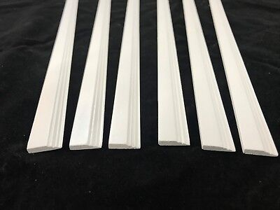 6 x Skirting Board Strips Painted White 12th Scale Dolls House 450 x 16 x 3mm