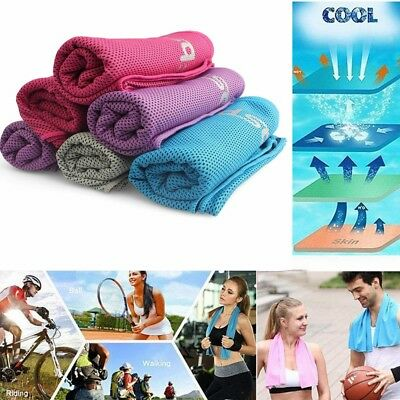 Sports Instant Cooling Towel Ice Cold Running Jogging Enduring Gym Chilly Pad