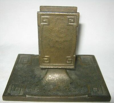 Antique Mission Arts Crafts Gold Tiffany Studios Ny Bronze Ashtray Match Holder