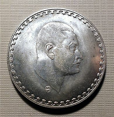 Egypt - 1970 Large Silver 1 Pound Coin - Nasser. Au Cond. Km#425    Tkos