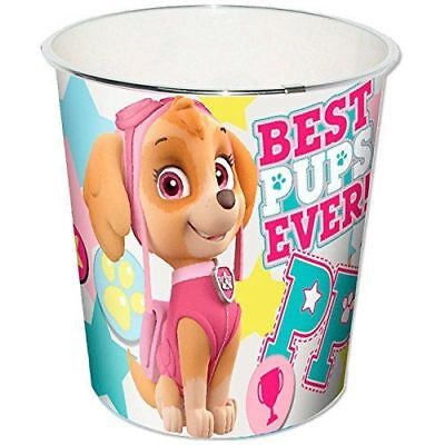 Kids Bedroom Bin Plastic Waste Bin Paw Patrol Skye Everest Childrens Girls Boys