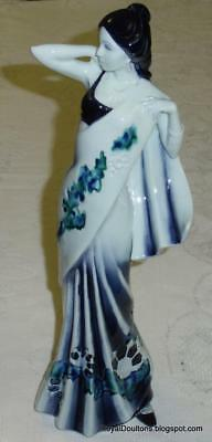 Royal Doulton BLUE Flambe Eastern Grace Red Figurine HN3683 - LIMITED EDITION!