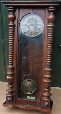 Large Old Vienna Type Wall Clock To Tidy Up Or Restore