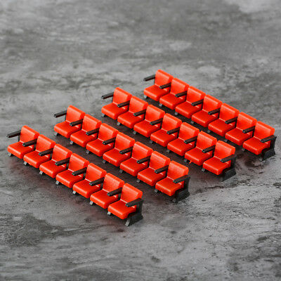 5 Sets Model Train Railway Cinema Chair Model Scenery Layout 1:100 Scale Red