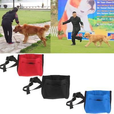 Pet Dog Outdoor Treat Pouch Training Bag Feed Bait Pouch with Pocket and Cliker