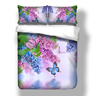 Floral Quilt Doona Duvet Cover Set Super King Single Double Queen Size Bed Linen