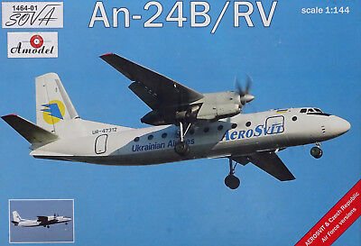 "AMODEL 1464-01 An-24B/RV ""Aerosvit"" in 1:144"