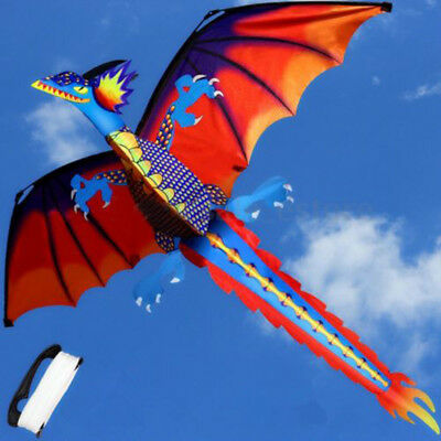 Classical 3D Flying Dragon Kite 140*120cm Line With Tail Outdoor Toy Kids Gift