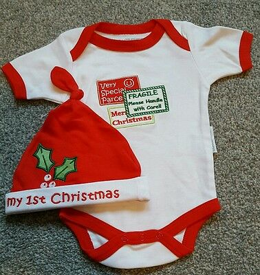 Baby Boys/Girls Set Christmas Bodies by Nursery Time. size 0-3 Months. BRAND NEW