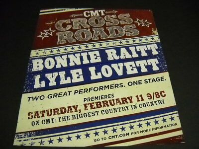 BONNIE RAITT and LYLE LOVETT are at the CROSS ROADS 2006 Promo Poster Ad mint