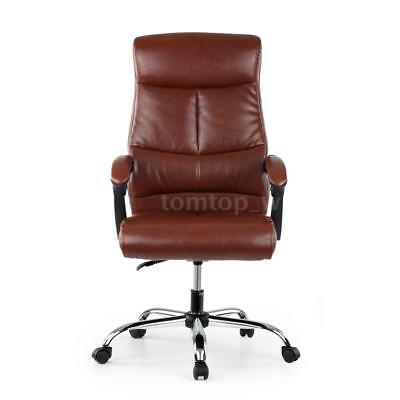 Leather Executive Computer Office Chair 90-170°Recliner Home Office Coffee O9I8