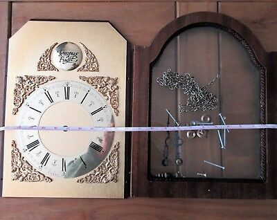 1970s Grandfather brass colour clock face and parts for spares