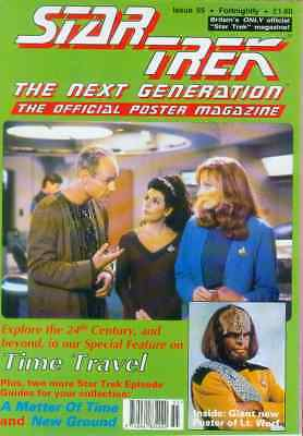 Star Trek Next Generation Official Poster Magazine # 55 (UK, 1993)