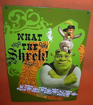Novelty Inc. Dreamworks What The Shek! Metal Sign   UPC:794080218386