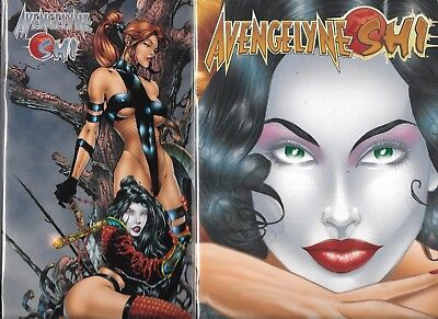 Avengelyne Shi #1 Lot Of 2 Covers -  Tucci & Finch Covers (Nm-) Avatar Comics