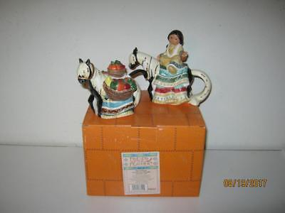 Enesco Friends Of The Feather 1997-Harvet Horse Sugar And Creamer Set With Box