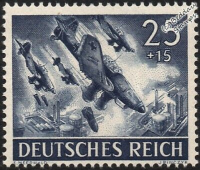 WWII Ju.87 STUKA Aircaft Stamp (1943 Germany Third Reich Armed Forces/Hero Day)