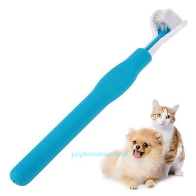 Three Sides Pet Puppy Dog Cat ToothBrush Teeth Cleaning Dental Health Care