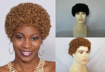 Small Afro 70's 70S Disco Tight Curls Short Afro Costume Wig Jerry Jheri Curl