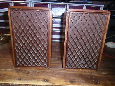 Vintage Pair of Sansui SP-M1 Bookshelf Speakers 8 ohm Very RARE!!!