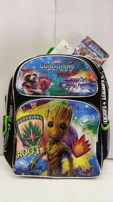 Marvel Guardians Of The Galaxy 16 Inches School Backpack 3 Pockets Must  LQQK New 3fb19acc134c1