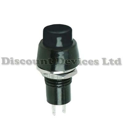 Black Momentary Push Button Switch 1Circuit 3A 250V off-(on)