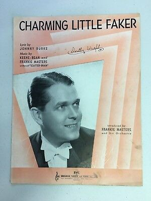 Vintage Frankie Masters Piano Sheet Music CHARMING LITTLE FAKER