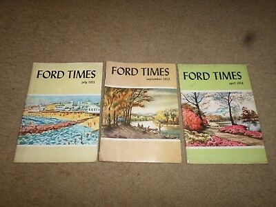 """e. LOT 3--1950s Ford """"Ford Times Magazines"""" Car Magazine"""