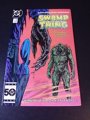 SAGA OF THE SWAMP THING #45 DC Comics, 1986 Alan Moore High-Grade NM 9.4