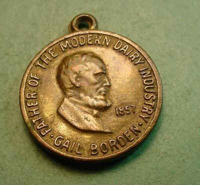 Borden Milk Charm For 100 Yr Anniv 1857/1957 Elsie Radio Premium ?<>#97529