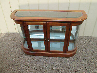 56470 PULASKI Oak Credenza Curio Server Table