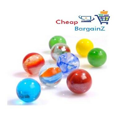 10, 20, 50, 100, 200  GLASS MARBLES Traditional Party Toy Quick Post Uk SLR