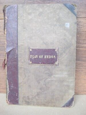 1838 Plan of Hedon Yorkshire.Folded - half calf book form with plot No's & index