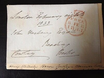 1st BARON COWLEY - BRITISH POLITICIAN & DIPLOMAT  - SIGNED ENVELOPE FRONT