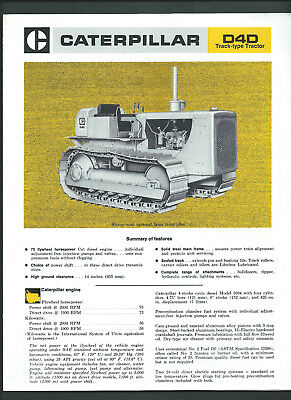 CATERPILLAR D4D TRACK-TYPE TRACTOR 4 page sales brochure