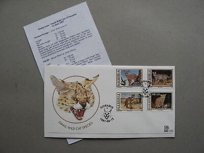 NAMIBIA, cover FDC 1997, cats