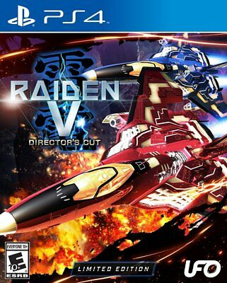 Raiden V: Director's Cut Limited Edition w/ Soundtrack CD PlayStation 4 PS4 New