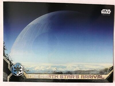 Star Wars Rogue One Series 2 Black Base Card #96 The Death Star/'s Arrival