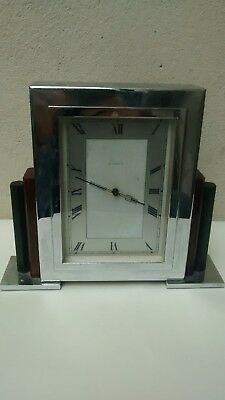 Art Deco Chrome Mantle Clock