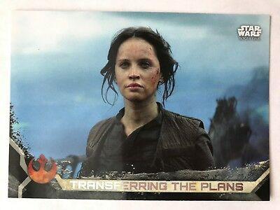 2017 Topps Star Wars Rogue One Series 2 #93 Transferring the Plans BLACK