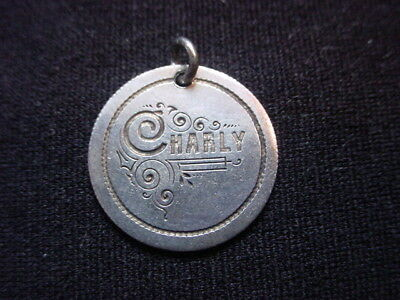 Love Token, The Name Charly Engraved On Switzerland One Half Franc Coin