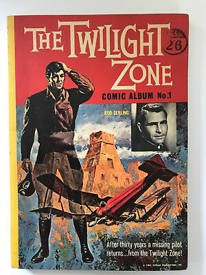 The Twilight Zone COMIC ALBUM #1 rare 1962 World Book UK American Comics