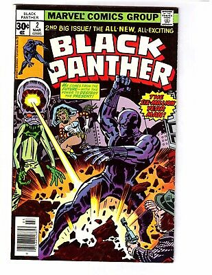 Black Panther #2 (Mar 1977, Marvel) VF/NM 9.0  Jack Kirby cover and art