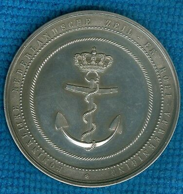 Undated Dutch Silver Medal for the Royal Dutch Sailing and Rowing Association